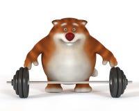 Katze 3d Weightlifter Stockbild
