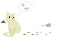 Katze-Denken Lizenzfreies Stockfoto
