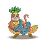 Katze - der mächtige Inka stock abbildung