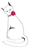 Katze, die durch eine Rückseite sitzt Stockfotos