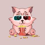 Katze, die einen Film aufpasst Stockfotos