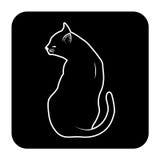 Katze, die zurück darstellt Lizenzfreie Stockfotos