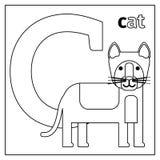 Katze, Farbtonseite des Buchstaben C lizenzfreie abbildung