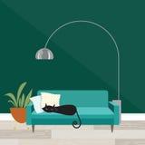 Katze im tiefen Schlaf Stockfotografie