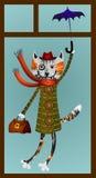 Katze im windiw Lizenzfreie Stockbilder