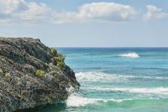 Katze-Insel-Küstenlinie Stockfoto