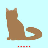 Katze ist es Ikone Stockbilder