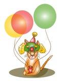 Katze mit Ballonen Stockfotografie