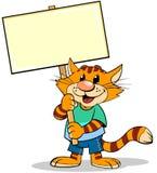 Katze mit Nummernschild stock abbildung