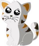 Katze mit Streifen Stockfoto