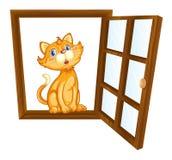 Katze und Fenster vektor abbildung
