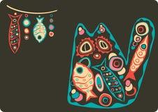 Katze und Fische lizenzfreie abbildung