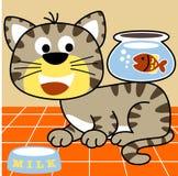 Katze und Freund stock abbildung