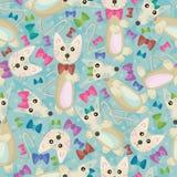 Katze-und Mäusenahtloses Muster lizenzfreie abbildung