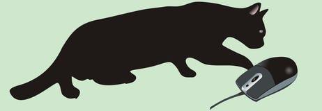 Katze und Maus Stockbild