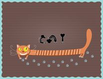 Katze und Maus stock abbildung