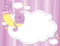 Katze und Mond lizenzfreie abbildung