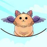 Katze-Vogel mit Flügeln Stockfoto