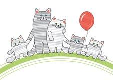Katzefamilie stock abbildung