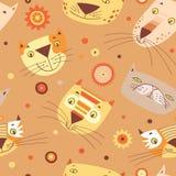 Katzegesichtsmuster Lizenzfreie Abbildung