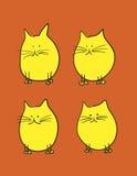 Katzekarikatur Stockfoto