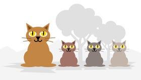 Katzen 02 Lizenzfreies Stockbild
