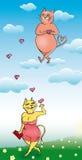 Katzen in der Liebe Lizenzfreies Stockfoto