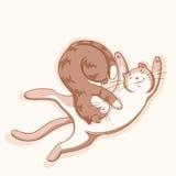 Katzen in der Liebe Lizenzfreies Stockbild