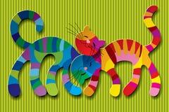 Katzen in der Liebe Stockbild