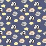 Katzen, die nahtloses Muster träumen Stockbilder