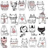 Katzen eingestellt stock abbildung