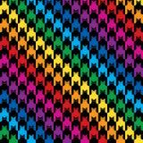 Katzen-Jagdhund-Zahn-Muster in den Regenbogen-Farben Stockfoto