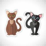 Katzen, Kätzchenvektorillustration Lizenzfreies Stockbild