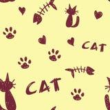 Katzen-Muster Lizenzfreie Stockfotos