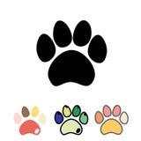 Katzen oder Hundetatzen eingestellt Katzen- und Hundetatzenikone Stockbild