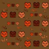 katzen Orange, rosa und braun Lizenzfreie Stockfotos