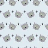 Katzen- und Pfotenabdruckmuster Stockfotos