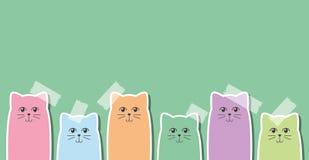 Katzenaufkleber stock abbildung