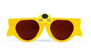 Katzenaugen formten die Retro- Gläser, die auf Weiß mit dem Abschneiden von PA lokalisiert wurden lizenzfreies stockbild