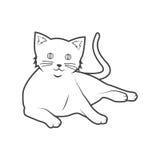 Katzenentwurf Stockbild