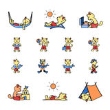 Katzenferien Stockbilder