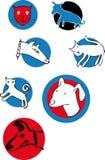 Katzenhundelogos Stockbilder