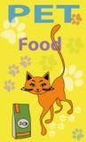 Katzenillustration, Nahrung für Haustiere Lizenzfreie Stockfotografie