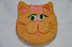 Katzenkleiner kuchen Stockbild