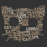 Katzenliebe Stockfotos