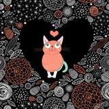 Katzenliebhaber Stockfoto