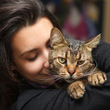 Katzenliebhaber Stockfotos