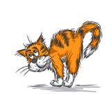 Katzenliebkosung stock abbildung