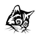 Katzenlogo Stockbild
