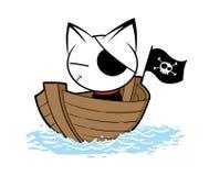 Katzenlogoillustration auf weißem Hintergrund lizenzfreie stockfotografie